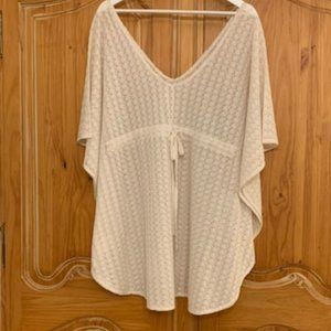 Lace cover up with tie waist